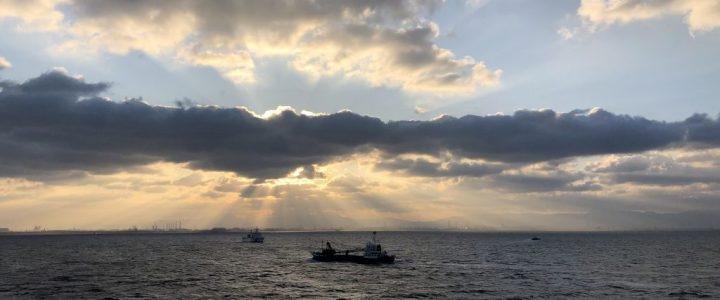 Dawn on the Seto Inland Sea